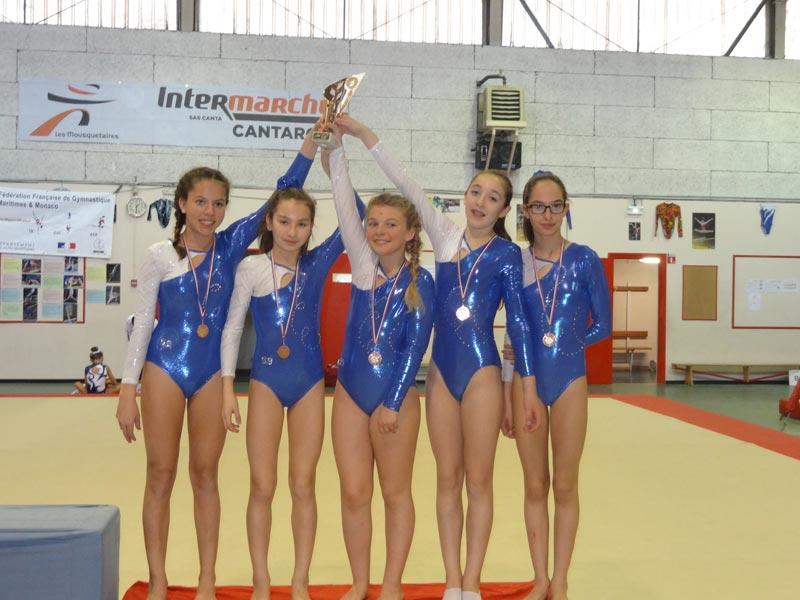 Un podium de plus pour les jeunes gymnastes